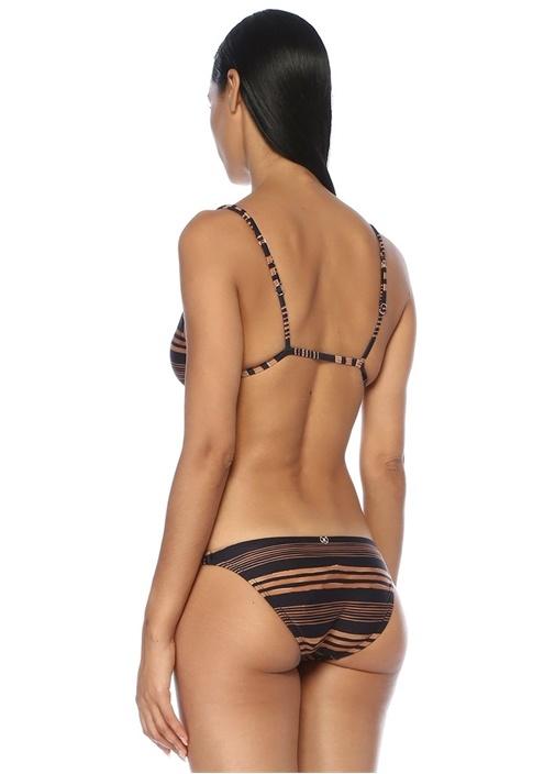 Isabela Lacivert Çizgili Üçgen Bikini Üstü