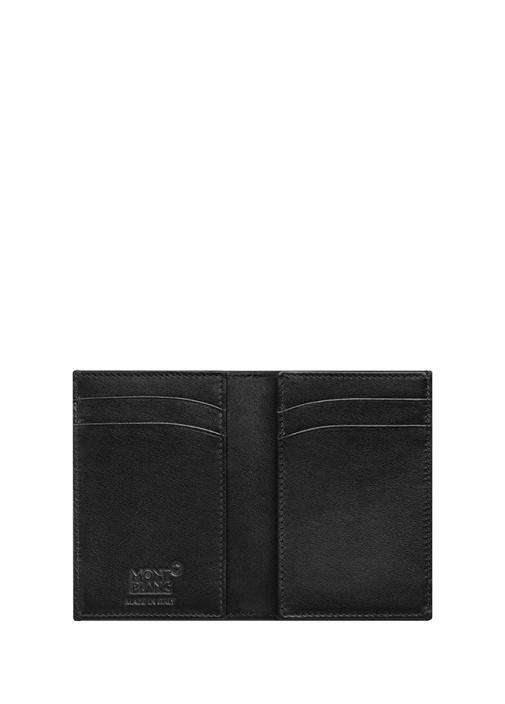 Siyah Yılan Derisi Desenli Unisex Deri Kartlık