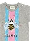 Gri Baskılı Kız Bebek T-shirt