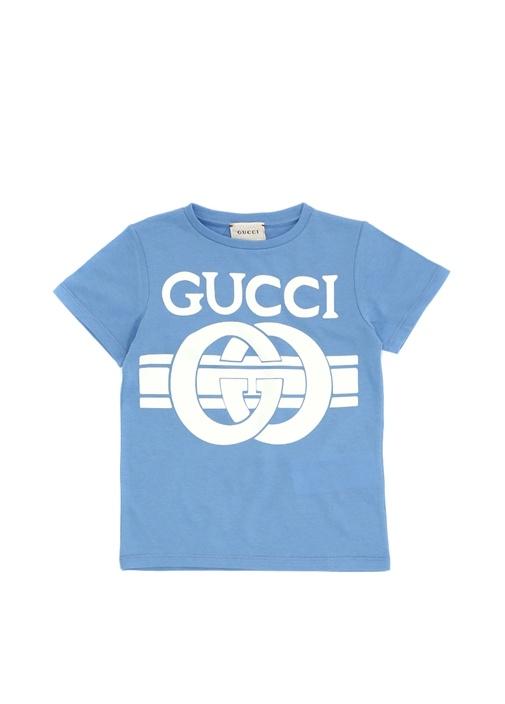 Mavi Logo Baskılı Erkek Çocuk Basic T-shirt
