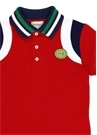 Kırmızı Logo Patchli Erkek Çocuk Polo Yaka T-shirt