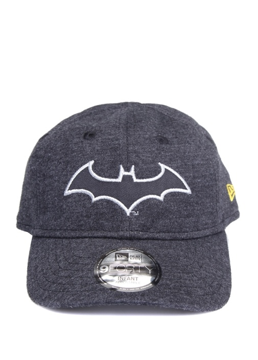 Antrasit Batman Patchli Unisex Çocuk Şapka