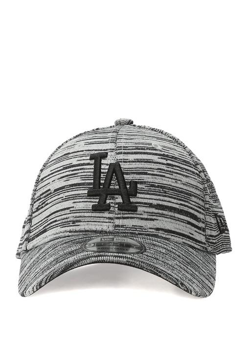 Losdod Siyah Gri Nakışlı Erkek Şapka