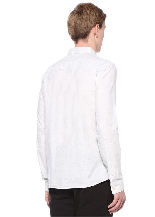 Colton Gri Polo Yaka Desenli Logolu Gömlek