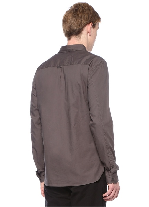 Redondo Gri İngiliz Yaka Gömlek