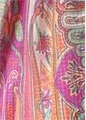Turuncu Karışık Desenli Kadın İpek Şal
