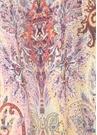 Kırmızı Etnik Desenli Kadın İpek Şal
