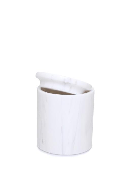 Beyaz Desenli Mermer Pamukluk
