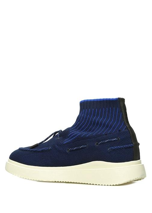 Lacivert Örgü Dokulu Jakarlı Erkek Sneaker