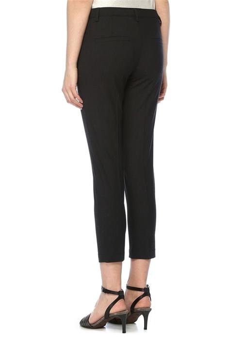 Antrasit Beli Zincir Şerit Detaylı Yün Pantolon