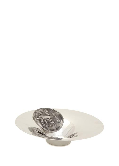 Silver Large Antik Para Detaylı Çerezlik
