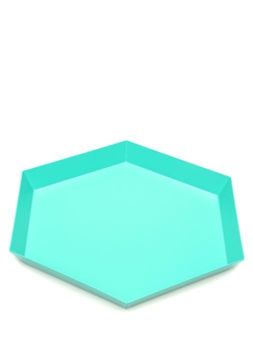 Kaleido Yeşil Geometrik Formlu Dekoratif Tabak