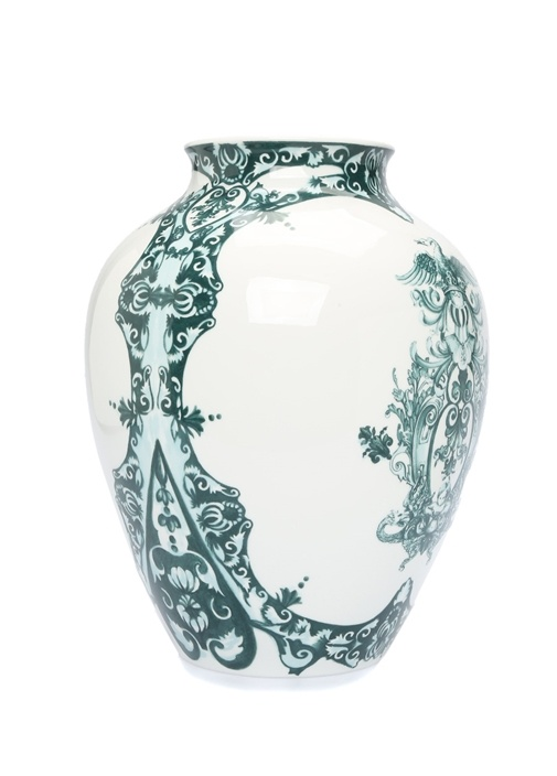 Babele Desenli Porselen Vazo