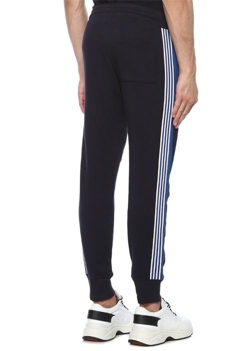 Lacivert Kenarları Şeritli Jogger Pantolon