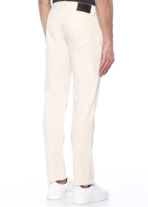 Ekru Normal Bel Dar Paça Jean Pantolon