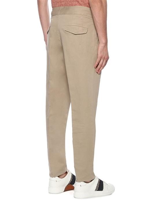 Bej Normal Bel Dokulu Boru Paça Pantolon