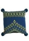 Stitch Mavi Jakarlı 50x50 Cm Yün Dekoratif Yastık