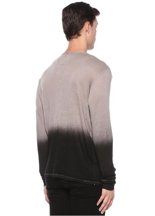 Monastir Bej Degrade Keten Sweatshirt