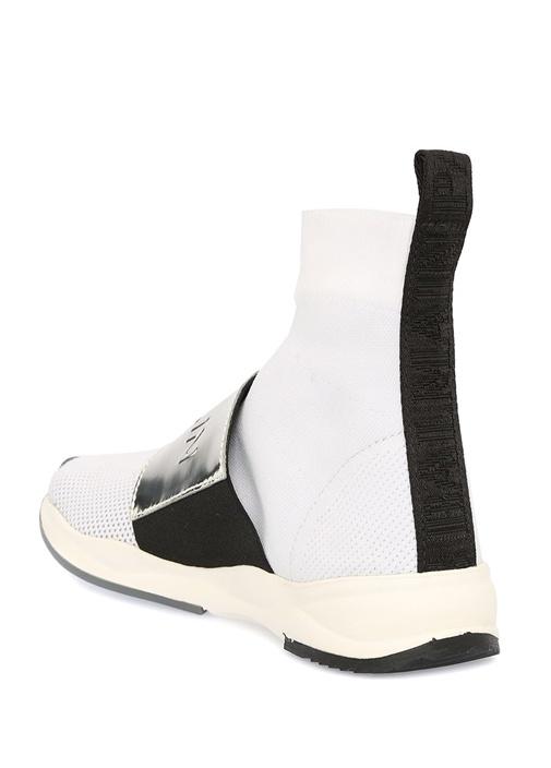 Cameron Beyaz Silver Bantlı Kadın ÇorapSneaker