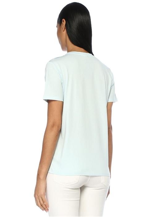 Mavi Silver Logolu Omzu Düğmeli T-shirt