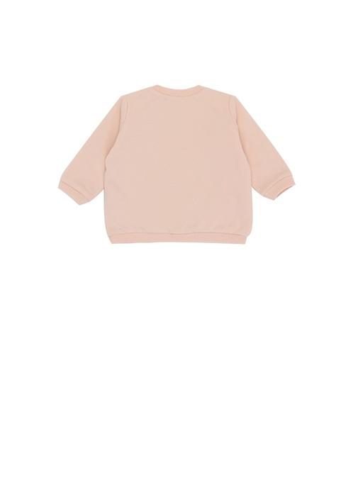 Pembe Kaplan Jakarlı Kız Bebek Sweatshirt
