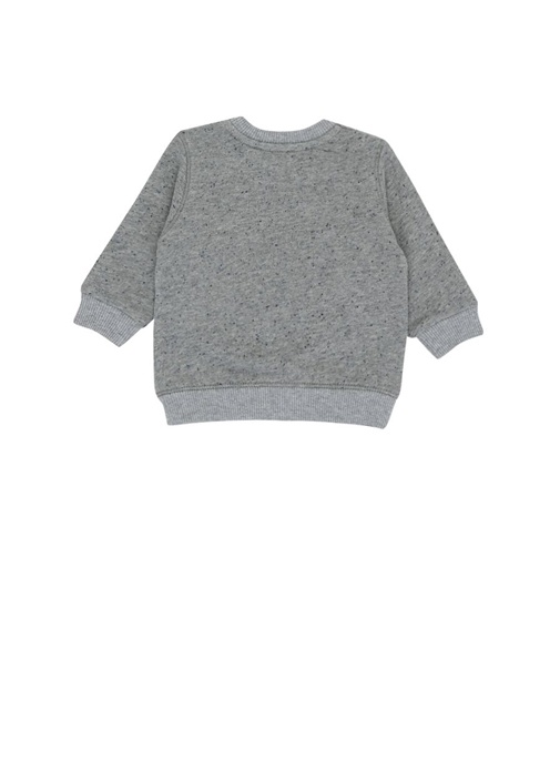 Wax Tiger Gri Nakışlı Erkek Bebek Sweatshirt