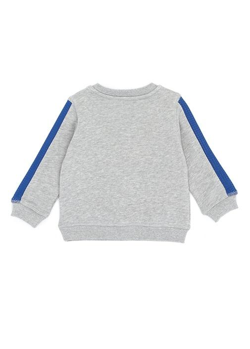 Gri Melanj Kaplan Jakarlı Erkek Çocuk Sweatshirt