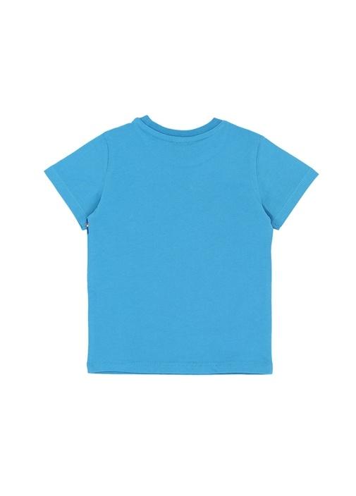 Racing Mavi Logo Baskılı Erkek Çocuk Basic T-shirt
