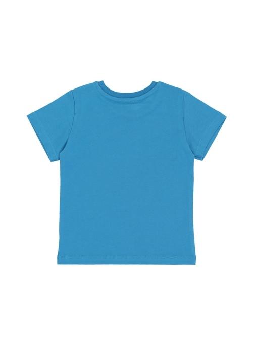 Mavi Kaplan Baskılı Erkek Çocuk T-shirt