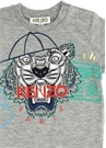 Tiger Gri Logo Baskılı Erkek Bebek T-shirt