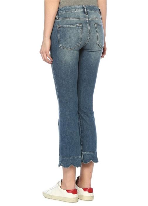 Normal Bel Cropped Bootcut Jean Pantolon