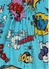 Mavi Askılı Karikatür Baskılı Kız ÇocukElbise