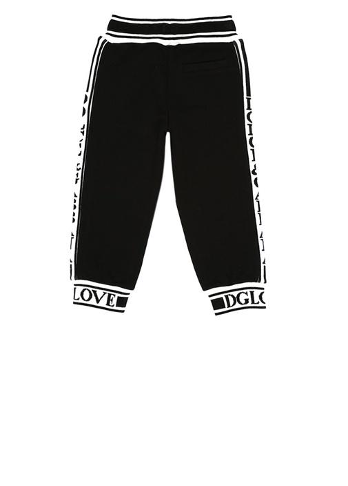 Siyah Şerit Logolu Erkek Çocuk Jogger Pantolon