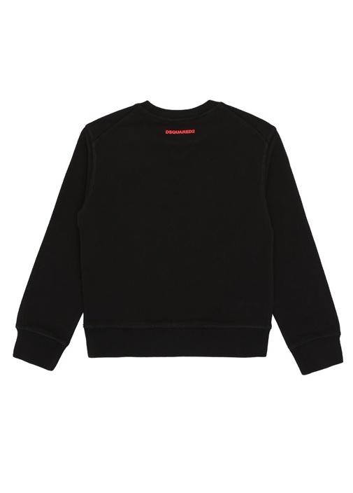 Icon Siyah Kırmızı Baskılı Erkek Çocuk Sweatshirt