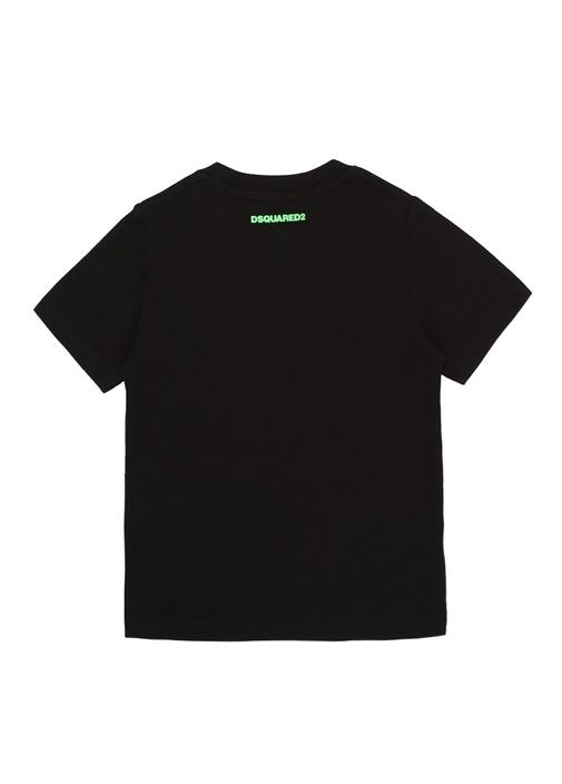 Icon Siyah Yeşil Baskılı Erkek Çocuk T-shirt