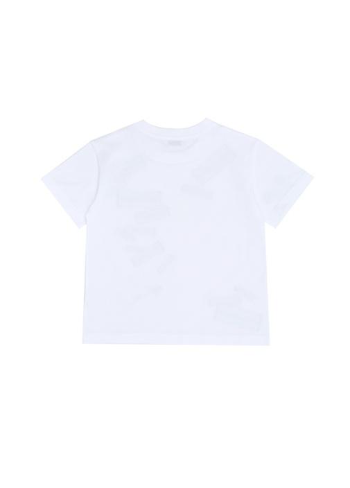 Beyaz Logolu Erkek Çocuk T-shirt