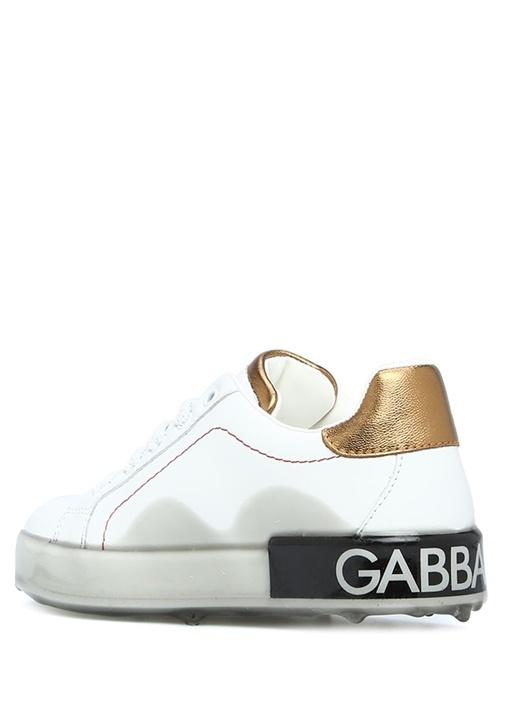 Portofino Taban Detaylı Erkek Çocuk Deri Sneaker