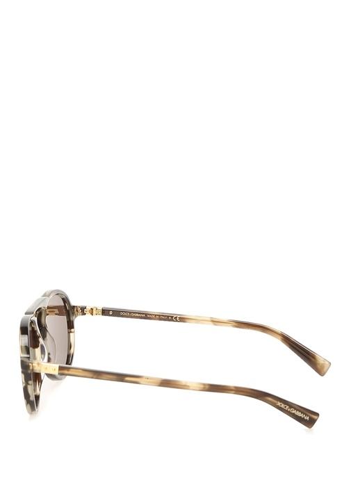 Turtle Desenli Köprülü Erkek Güneş Gözlüğü