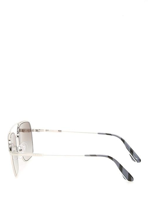 Siyah Oval Formlu Çift Köprülü Erkek Güneş Gözlüğü
