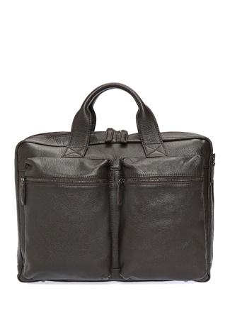 Beymen Collection Erkek Kahverengi Dokulu Deri Laptop Çantası Ürün Resmi