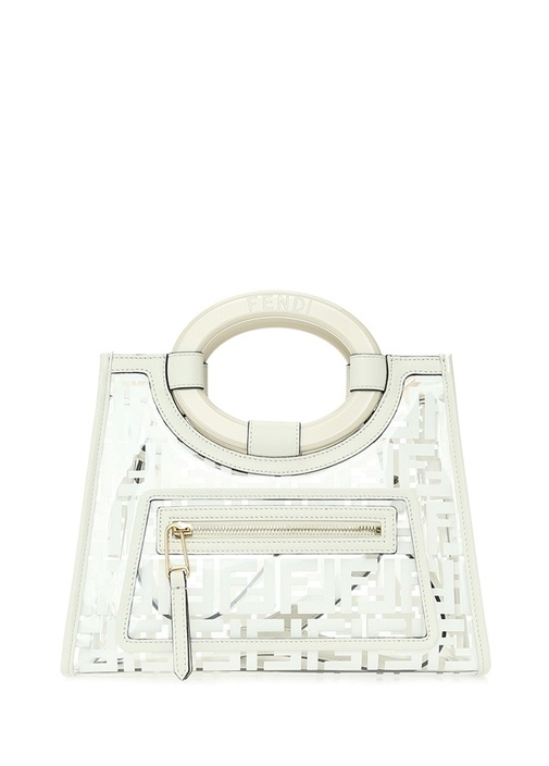 Fendı Small Beyaz Transparan Detaylı Omuz Çantası – 11450.0 TL