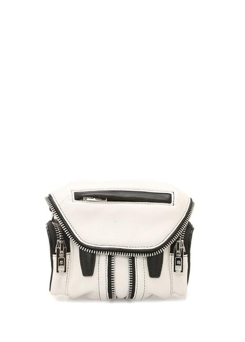 Micro Marti Beyaz Kadın Deri Çanta