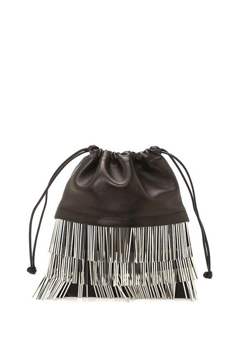 Ryan Mini Siyah Büzgülü Kadın Deri Çanta