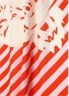 Kırmızı Pembe Logo Baskılı Kadın Fular