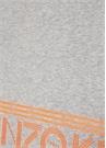 Gri Neon Turuncu Logo Baskılı Kadın Atkı
