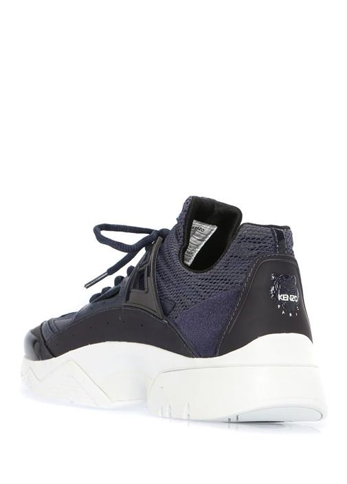 Lacivert File Dokulu Kadın Sneaker