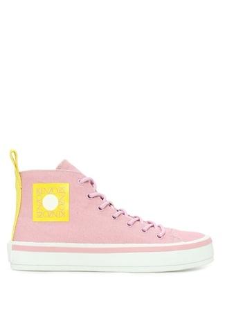 Kenzo Kadın Pembe Logolu Kanvas Sneaker 39 EU