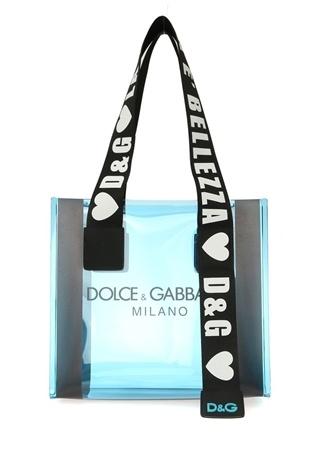 Dolce&Gabbana Kadın Street Mavi Logolu AlışverişÇantası EU
