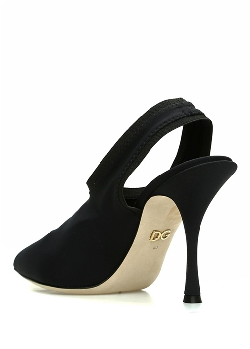 Siyah Çorap Formlu Topuklu Ayakkabı