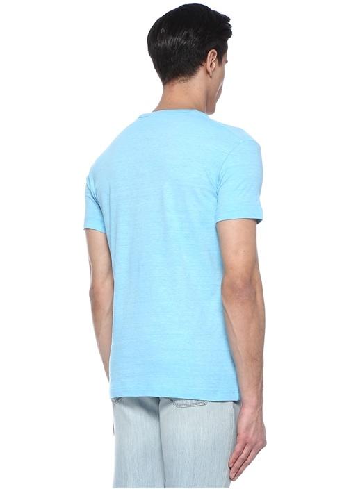 Mavi Baskılı T-shirt